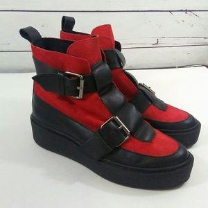 Free People platform suede boots
